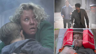 A fire ripped through EastEnders last night