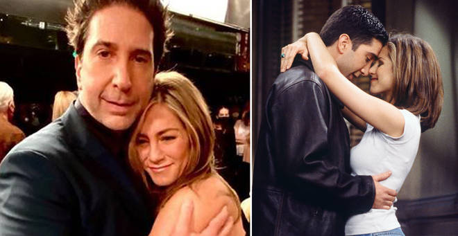 Jennifer Aniston has denied reports that she dated David Schwimmer