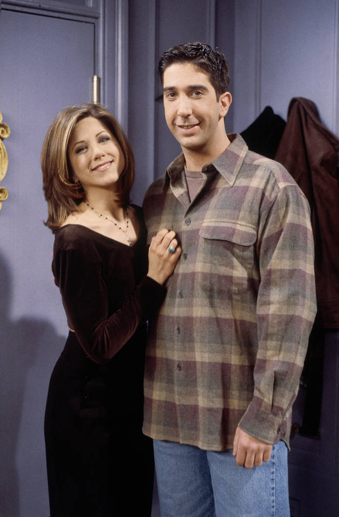 David and Jennifer played Ross and Rachel in Friends