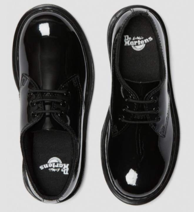 These are an example of Dr Marten school shoes for girls, although we do not know exactly which ones were banned