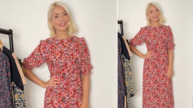 Holly Willoughby is wearing a floral midi dress