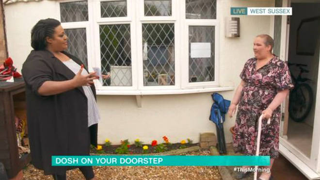 Heather won the Dosh on your Doorstep segment with Alison Hammond