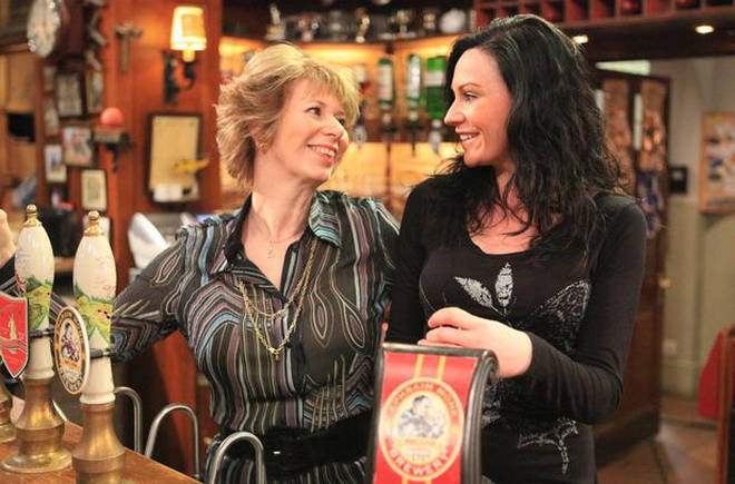 Pulling pints with Chas Dingle in the Woolpack