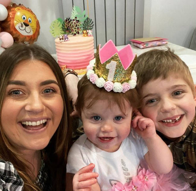 Gogglebox's Izzi and her two children