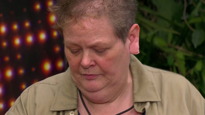 Anne Hegerty had a plaster on her earlobe during the live trial last night