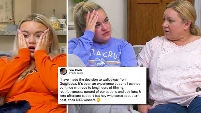 Paige Deville will no longer be taking part in Channel 4's Gogglebox