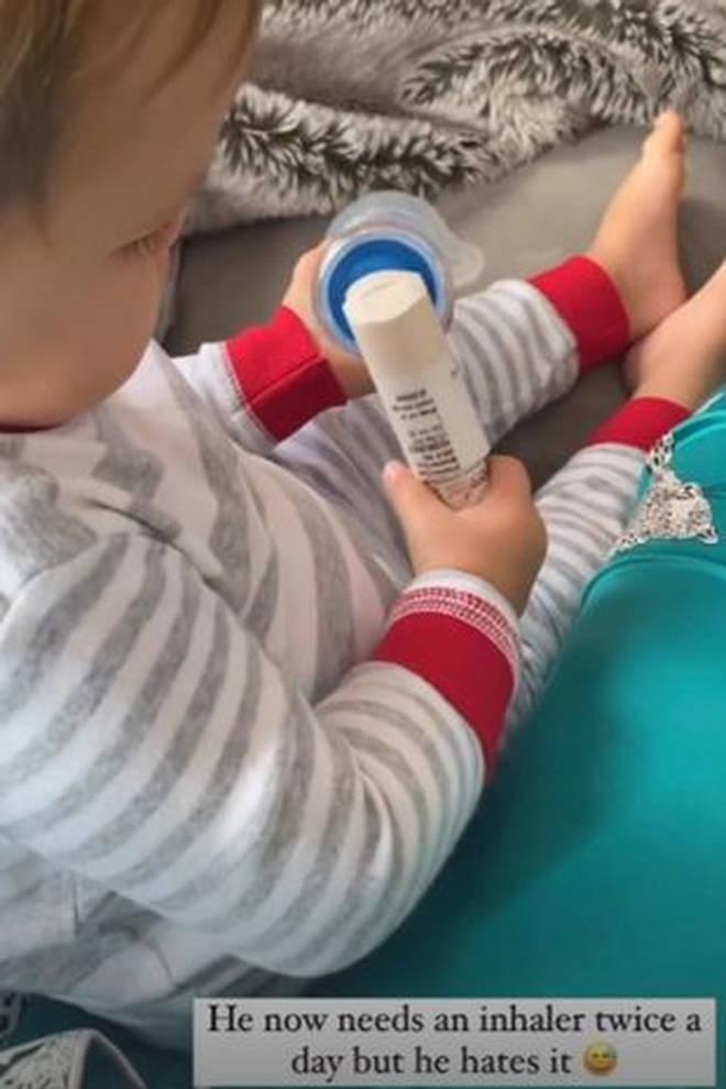 Roman is now using an inhaler