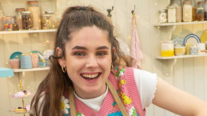 GBBO contestant Freya will be impressing with her vegan and plant-based bakes in this year's tent - Channel 4