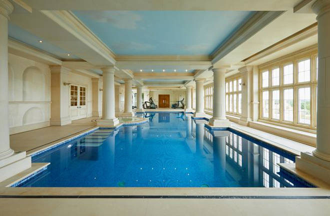 The house comes complete with a stunning swimming pool