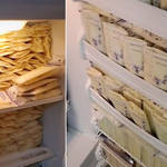 A mum has filled her entire freezer with breast milk