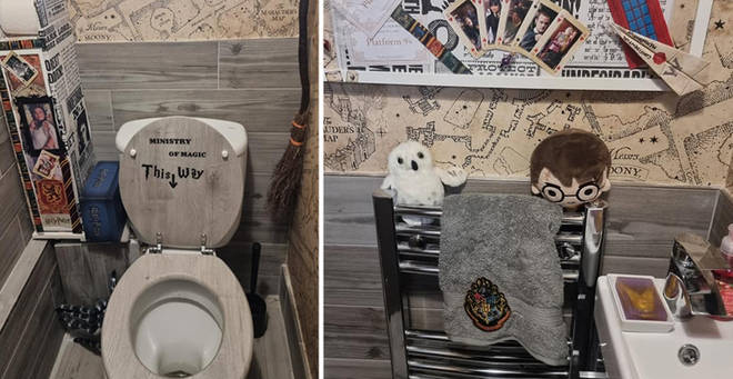 The woman has showed off the results of her bathroom makeover