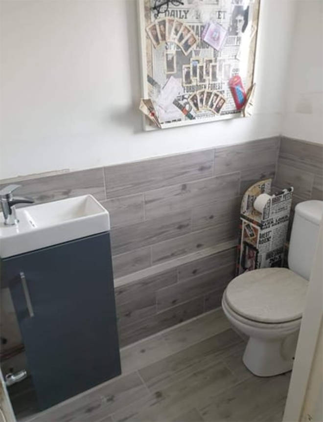 She decided to transform her bathroom because she's a huge fan of Harry Potter