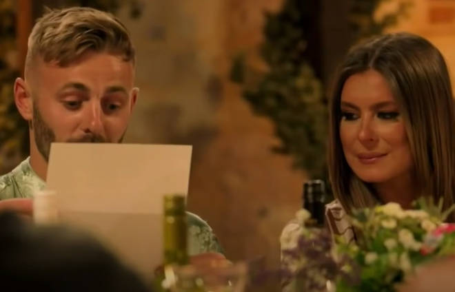 Adam and Tayah received a very positive letter from their anonymous couple