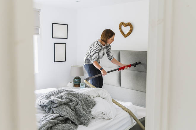 Experts suggest you hoover your home regularly to stop dust building up