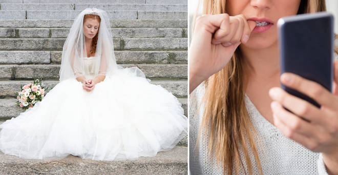 The bride's Facebook post was shared on Reddit (stock image)