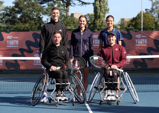 Kate visited the tennis champs in Roehampton this morning