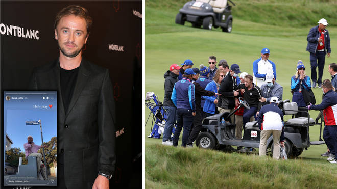 Tom Felton's friend has told fans he is 'okay' after the actor suffered a medical incident