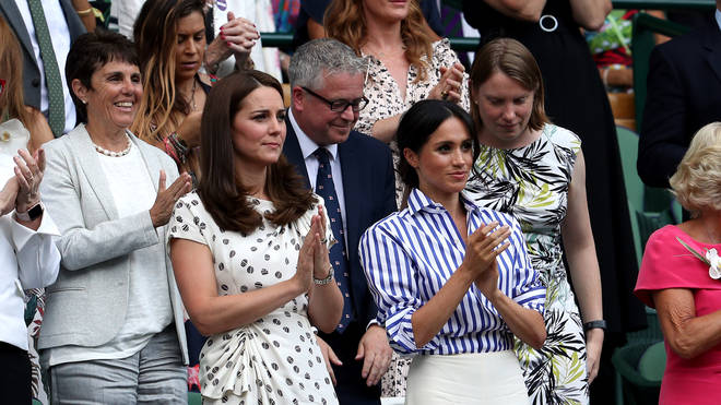 Kate and Meghan pictured at Wimbledon together