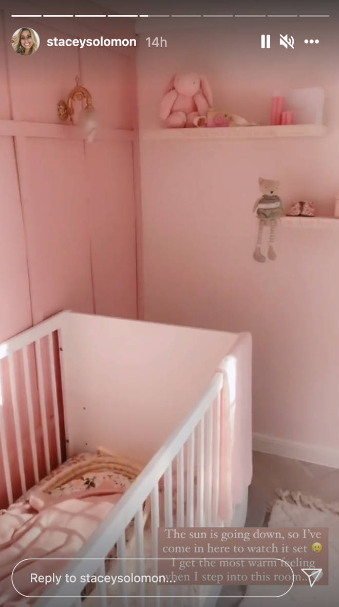 Stacey posted a stunning video of the new nursery