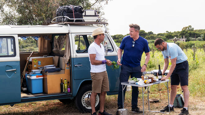 The campervan is back in Gordon, Gino and Fred Go Greek