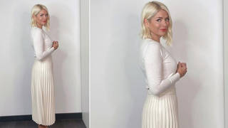 Holly Willoughby is wearing all white on This Morning