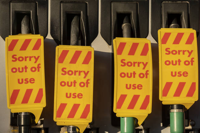 Pumps have been left without petrol