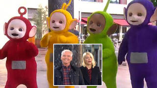 The Teletubbies appeared on This Morning yesterday