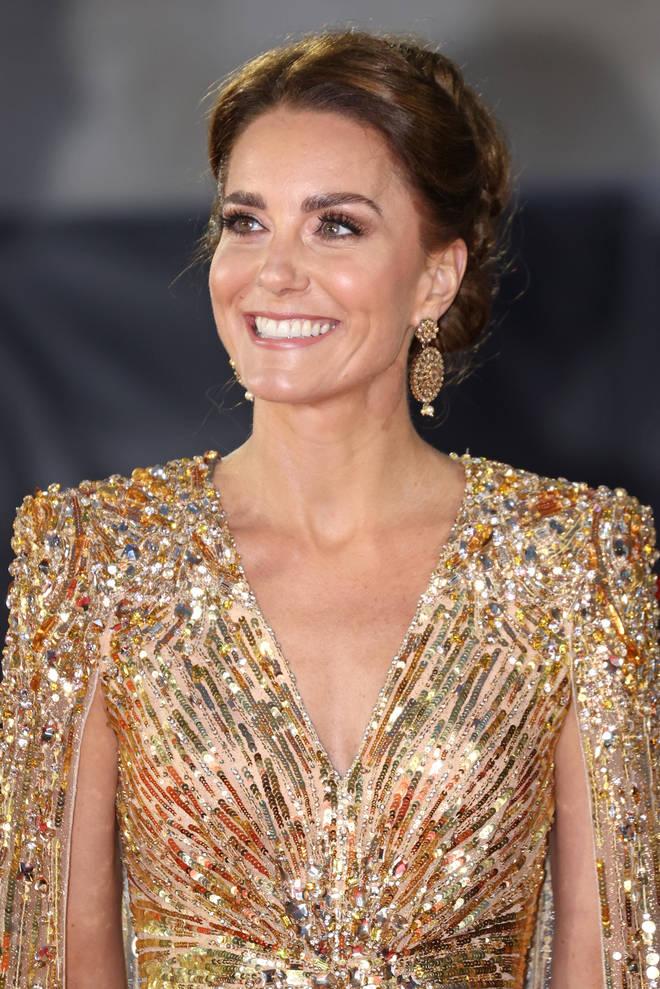 The Duchess of Cambridge wore a dress by designer Jenny Packham