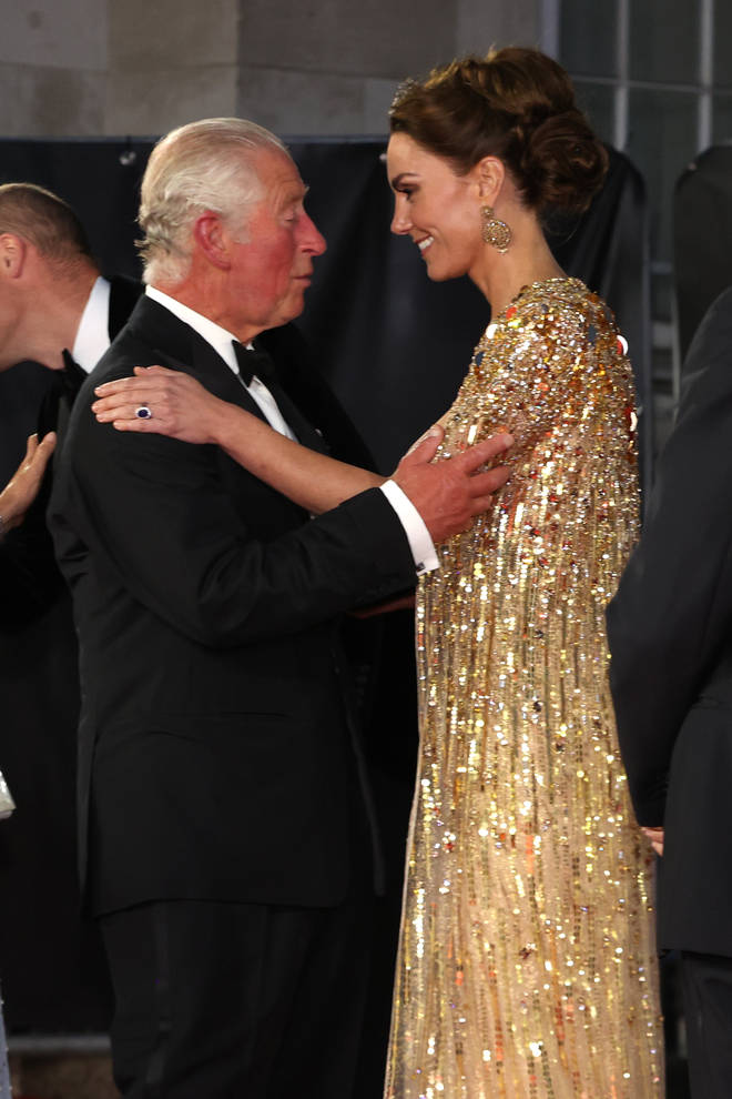 Kate Middleton had a sweet moment with her father-in-law Prince Charles
