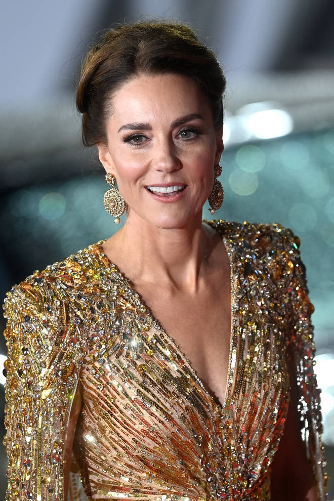 The Duchess of Cambridge stole the show in the Bond-inspired outfit