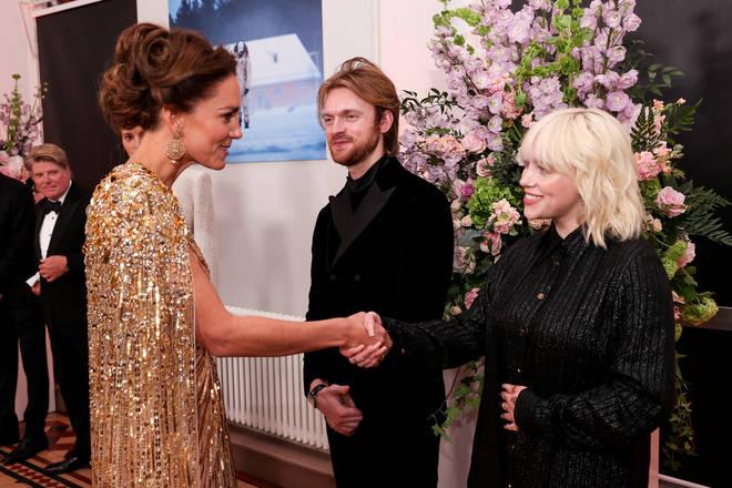 The Duchess of Cambridge also met Billie Ellish