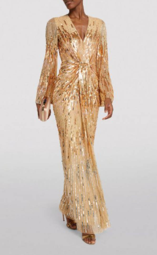 Kate Middleton's dress appears to be a bespoke gown based on this Jenny Packham piece