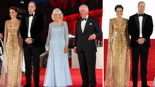 Kate, William, Charles and Camilla tried something different at the premiere of No Time To Die