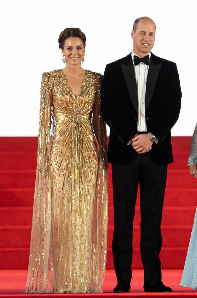The Duke and Duchess of Cambridge smiled for the cameras as they stood on the red carpet