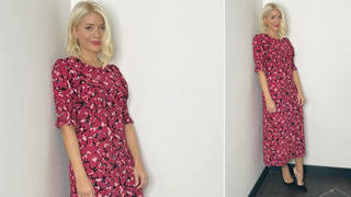 Holly Willoughby is wearing a pink dress from Nobody's Child