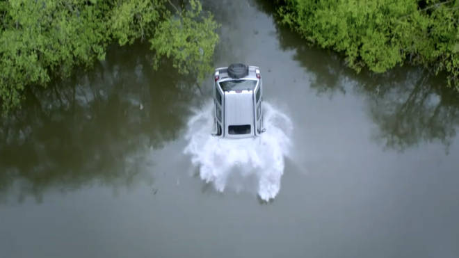 Jamie Tate's car plunged into a lake in Emmerdale