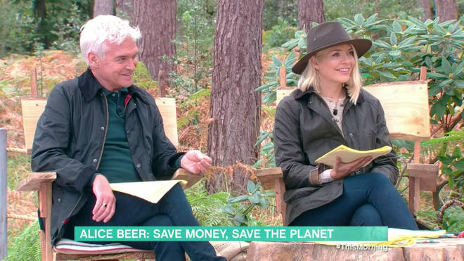 Holly and Phil presented the show from the This Morning forest on Thursday