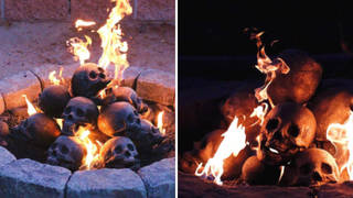 These skull logs are perfect for creating the ultimate spooky setting this Halloween