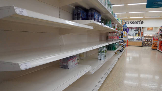 Shelves are running out of food due to delivery issues