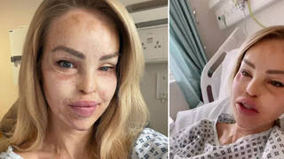 Katie Piper updated fans from hospital