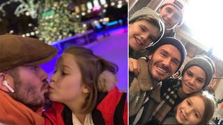David Beckham shares selfie with Harper