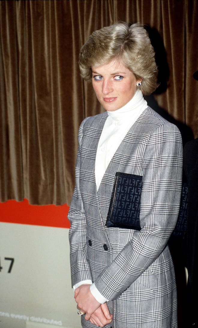 Princess Diana wore a lot of the grey check throughout her life