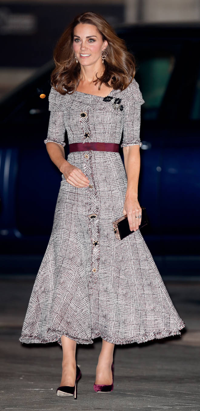 Kate Middleton looked gorgeous in the Prince of Wales check for an event in 2018