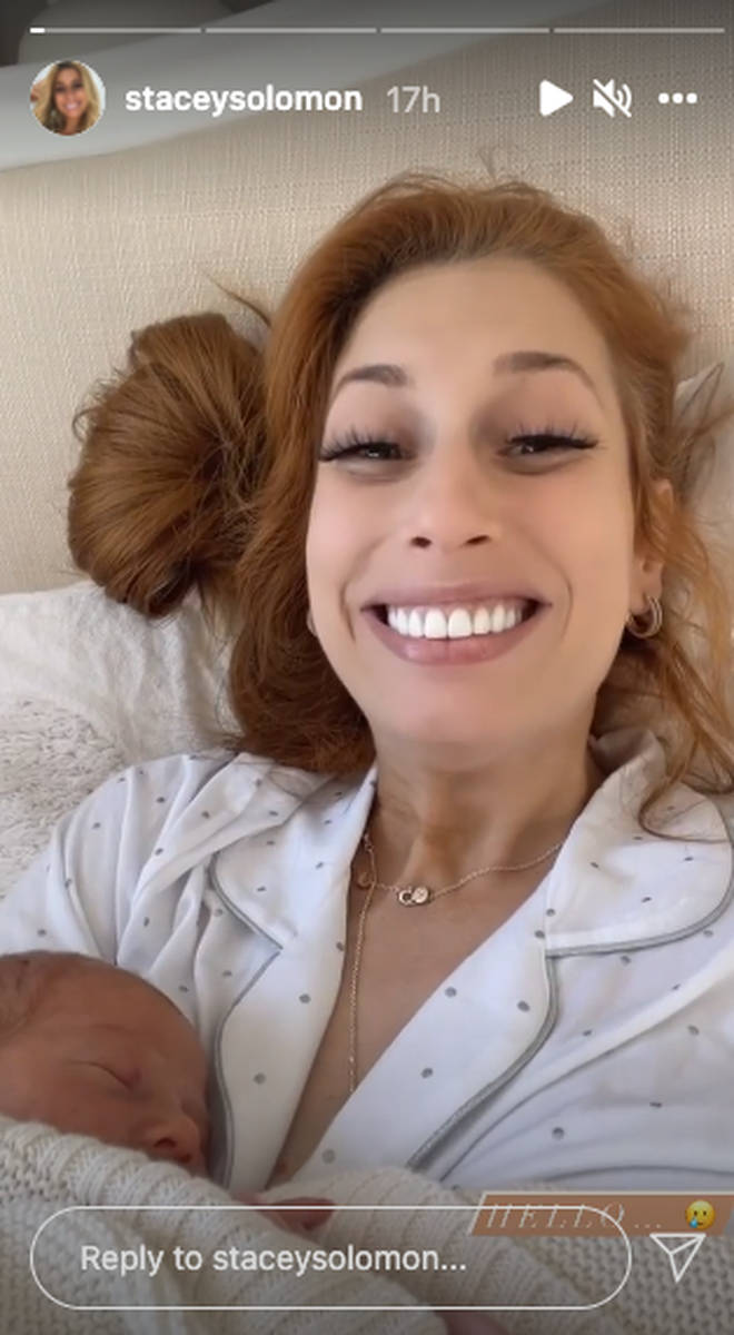 Stacey Solomon gave her fans an update on Instagram