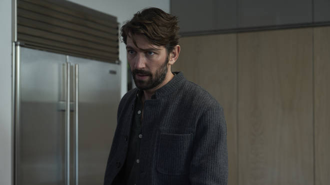 Michiel Huisman has the role of Angela's abusive husband, Olivier.