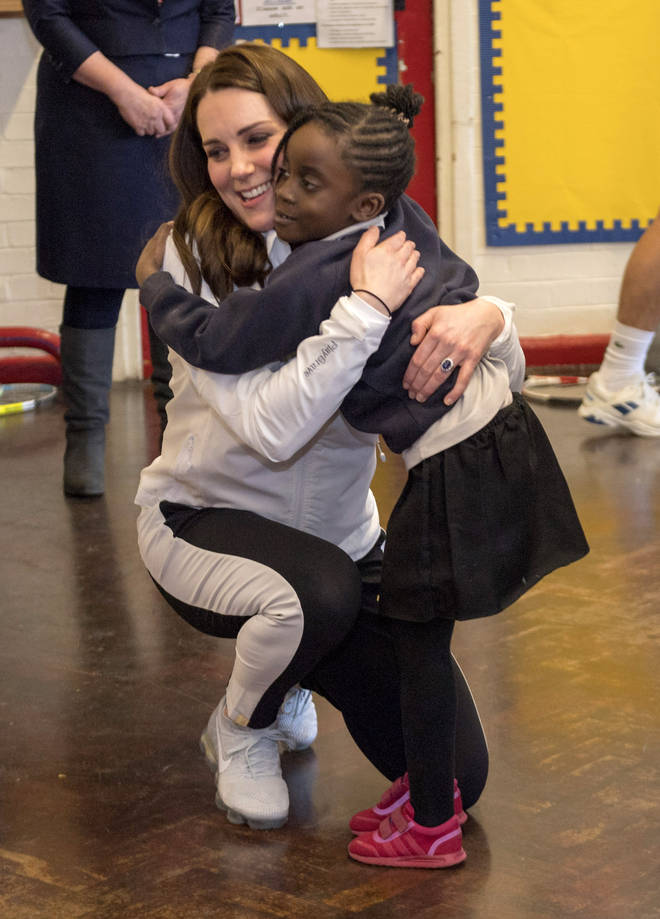 Kate and William will never refuse a hug from an excited child