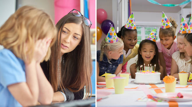 The teacher has sparked a debate over whether it is acceptable or not to only invite certain classmates to a kid's birthday party