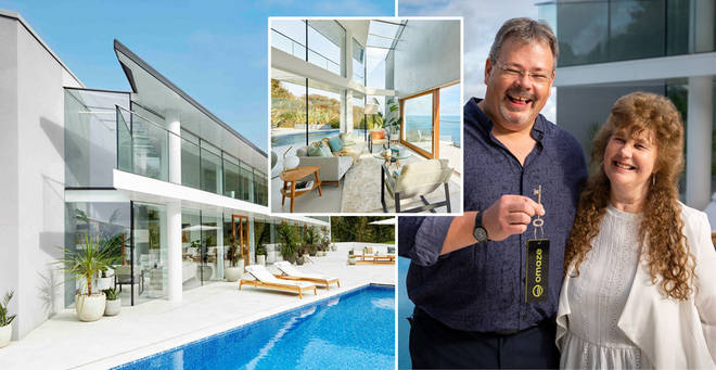 The couple won the incredible house in a charity prize draw