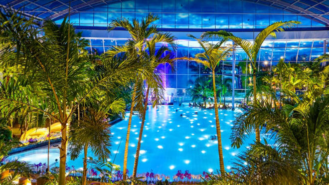 This picture from the Therme Euskirchen waterpark in Germany will give you an idea of what to expect