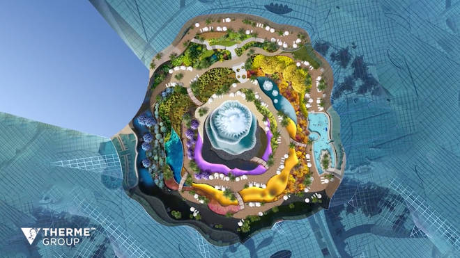 There will also be a rose-shaped botanical garden at the centre of the waterpark
